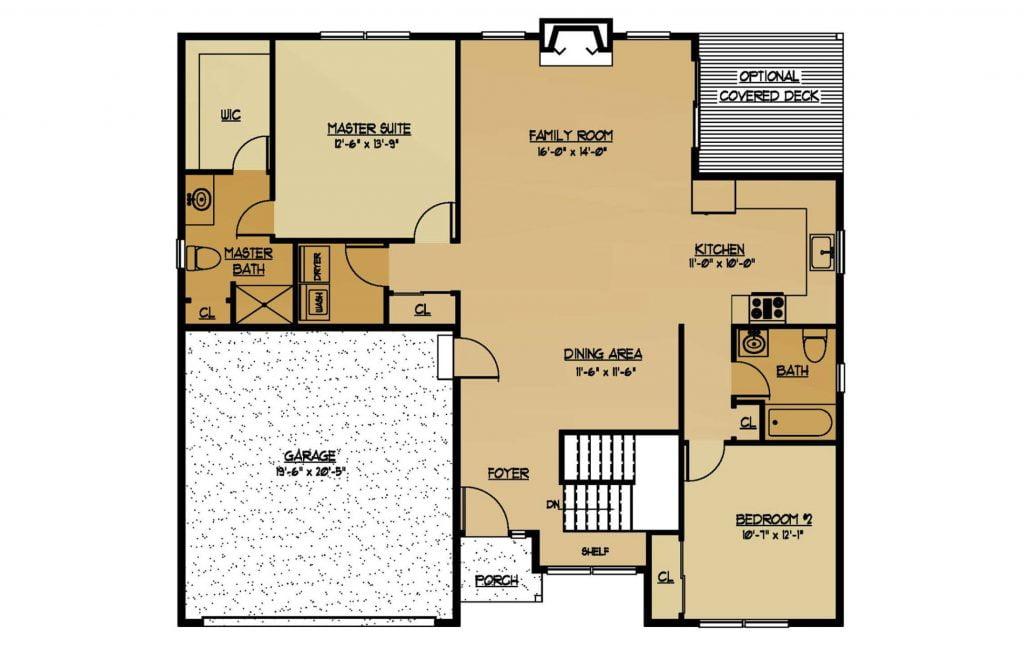 The Aspen New Home Construction Floor Plan in Ballston Lake, NY Saratoga County, NY & Clifton Park, NY