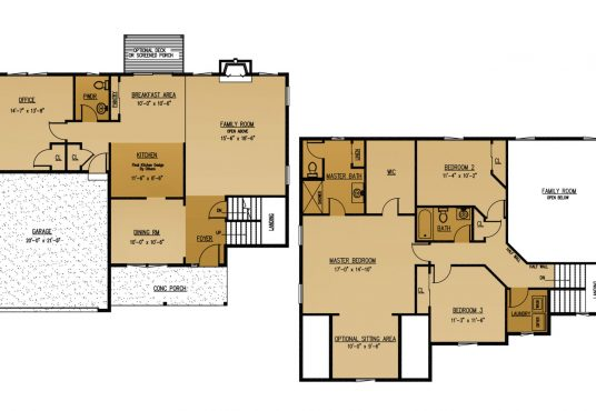 The Balsam New Home Construction Floor Plan Ballston Lake, NY Saratoga County, NY & Clifton Park, NY