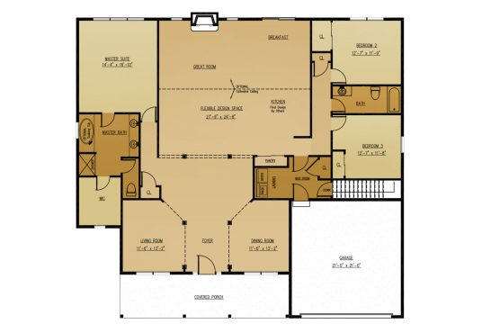 The Banyan The Banyan New Home Construction Floor Plan in Ballston Lake, NY Saratoga County, NY & Clifton Park, NY