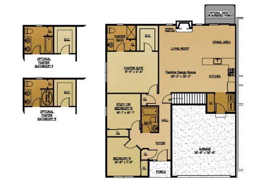 The Beechwood New Home Construction Floor Plan in Ballston Lake, NY Saratoga County, NY & Clifton Park, NY