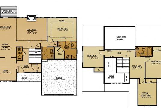 The Cedar New Home Construction Floor Plan in Ballston Lake, NY Saratoga County, NY & Clifton Park, NY