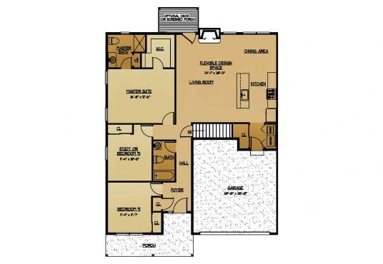 The Cottonwood New Home Construction Floor Plan in Ballston Lake, NY Saratoga County, NY & Clifton Park, NY