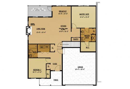 The Dogwood New Home Construction Floor Plan in Ballston Lake, NY Saratoga County, NY & Clifton Park, NY