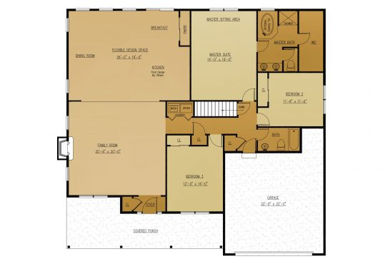 The Fig New Home Construction Floor Plan in Ballston Lake, NY Saratoga County, NY & Clifton Park, NY