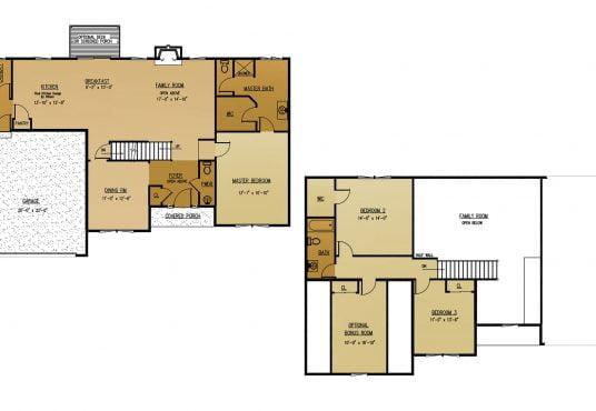 The Hawthron New Home Construction Floor Plan in Ballston Lake, NY Saratoga County, NY & Clifton Park, NY