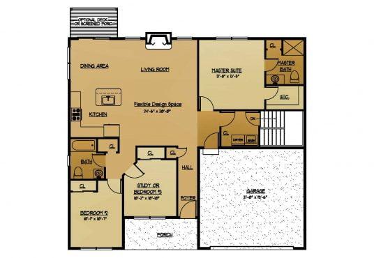 The Juniper New Home Construction Floor Plan in Ballston Lake, NY Saratoga County, NY & Clifton Park, NY