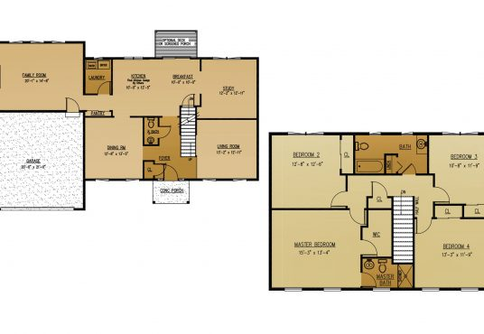 The Mahogany New Home Construction Floor Plan in Ballston Lake, NY Saratoga County, NY & Clifton Park, NY