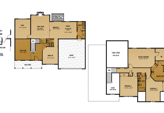 The Mulberry New Home Construction Floor Plan in Ballston Lake, NY Saratoga County, NY & Clifton Park, NY