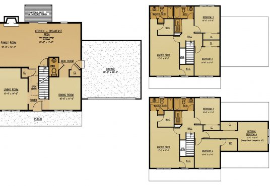 The Oak New Home Construction Floor Plan in Ballston Lake, NY Saratoga County, NY & Clifton Park, NY