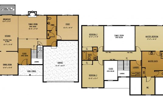 The Palm New Home Construction Floor Plan in Ballston Lake, NY Saratoga County, NY & Clifton Park, NY