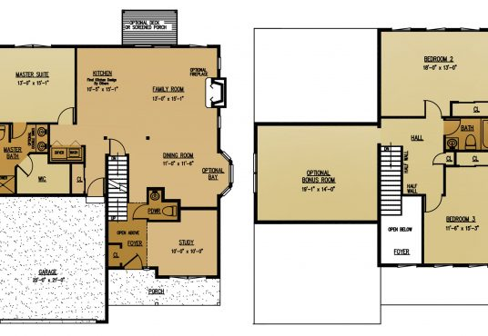 The Tamarak New Home Construction Floor Plan in Ballston Lake, NY Saratoga County, NY & Clifton Park, NY