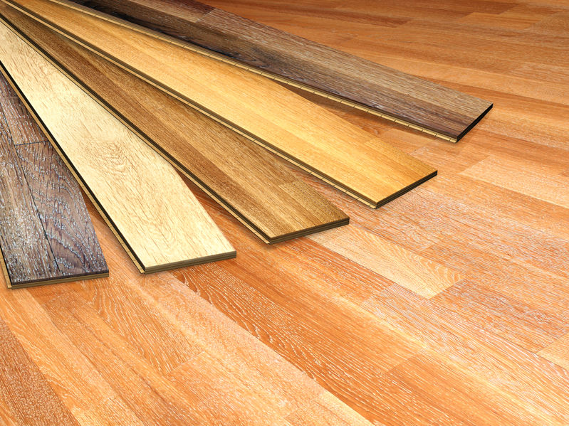 hardwood floor samples of various colors
