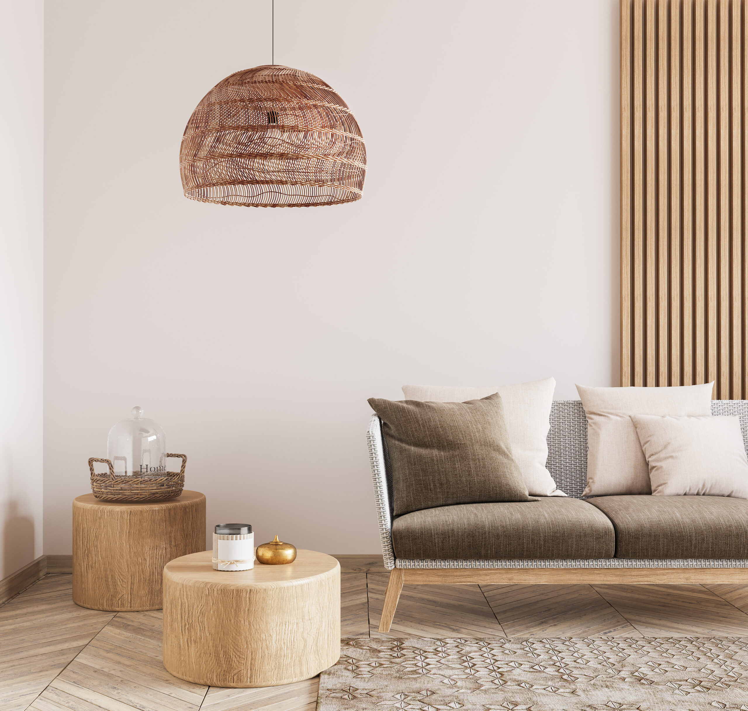 living room with different textures to create modern farmhouse design
