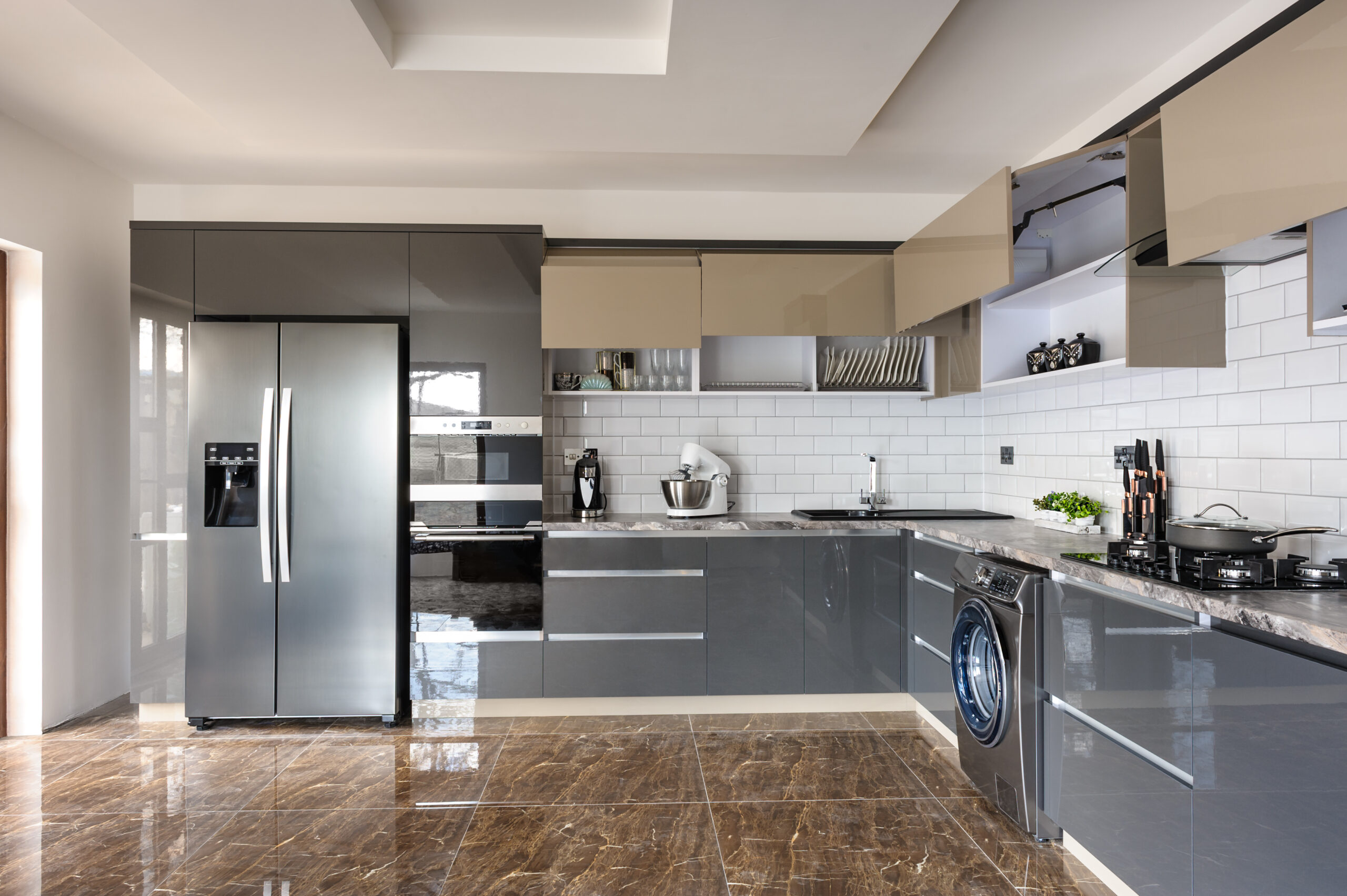 luxury modern home with upgraded appliances to maximize the value of your home before selling it